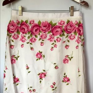 Michele rose floral print skirt